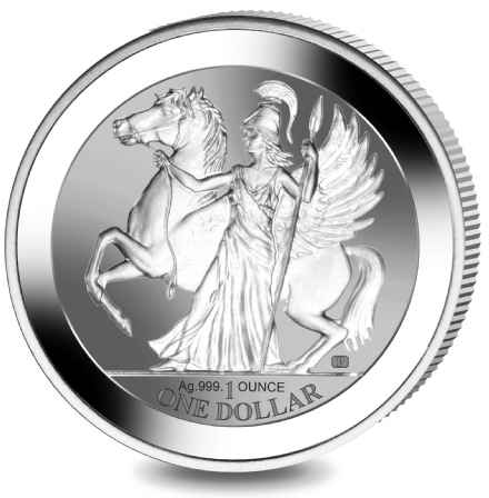 2017 1oz Silver Pegasus with reverse proof finish